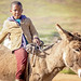 Basotho boy and his donkey @ Katse Dam Village