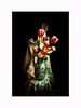 Silk and flowers (Krasne oci) Tags: stilllife spring flowers flowerart white red vase onblack silk classic artphotography photographicart evabartos tulips
