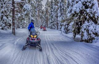 En moto (de nieve)