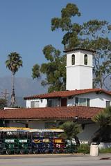 Santa Barbara (davidjamesbindon) Tags: town america states united usa california barbara santa trees street road building