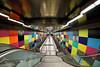 Underground station Munich (berndkru) Tags: münchen canoneos6dmarkii ef815mmf4lfisheyeusm munich ubahn underground spiegelungen reflections