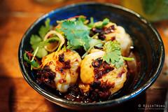 20180323-09-Black bean and chilli prawn dumplings at Rice Paper Scissors in Melbourne (Roger T Wong) Tags: 2018 australia iv melbourne metabones ricepaperscissors rogertwong sigma50macro sigma50mmf28exdgmacro smartadapter sonya7ii sonyalpha7ii sonyilce7m2 victoria dumplings food prawn