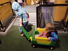 Pulling his brother (quinn.anya) Tags: sam preschooler wagon pulling paul toddler brothers habitot