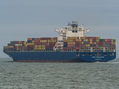 Conti Annapurna 03 (U. Heinze) Tags: cuxhaven elbe nordsee wasser ship schiff vessel containerschiff olympus boot boat