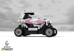 Renault Twizy ZE (lego911) Tags: renault twizy ze zero emissions city auto car moc model miniland lego lego911 ldd render cad povray 2012 electric bev ev vehicle france french