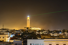 Hassan II Mosque (Laszlo Horvath.) Tags: hassan ii mosque marocco morocco marokko laser lazer islam casablanca light night mella beam