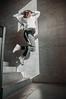 MRGRT-13 (qauqe) Tags: nike air force 1 af1 street urban jjstreet dance company hip hop hiphop house nikon d40 white locks portrait woman girl teenager tallinn estonia elevator stairway photography black bw graffiti stretshopone classics camo cityscape skyscraper
