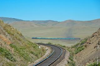 Passeenger train No:286. Ulaanbaatar - Sain shand...