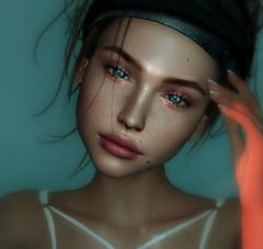 Slowly (Chelsea Chaplynski ( Amity77 inworld)) Tags: japan septum ring gold silver chelsea head catwa swan jewellery nose face shi event secondlife avatar