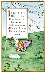 Thought of You Today (Brian Bowrin) Tags: bowrin post card postcard bought purchased usa easter 1915 1910s boston mass eliza leonard massachusetts annie dalton