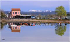 - REFLEJO - (Tomas Mauri) Tags: parcagulla reflejo arbol casa montaña nieve lago agua cielo nubes manresa spain catalunya europa bages