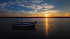 Un rato de tranquilidad... (protsalke) Tags: sea light sunset colors beautiful calm quiet cadiz nikon landscape ocean clouds peace equilibrium andalucia sky