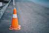 Orange Traffic Pylon on the road (wuestenigel) Tags: repair under color concept background orange safety 3d cone cones design isolated pylon white danger art street security vector light traffic work stop caution road warning sign symbol icon plastic attention highway construction red striped control illustration barrier alert signal