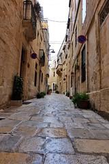 Malta Streets (Douguerreotype) Tags: street city balcony stone buildings malta architecture urban