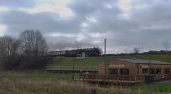 Beeston 140418_101445 (Leslie Platt) Tags: exposureadjusted straightened cheshirewestchester beeston 460royalscotclass 46100royal scot northwalescoastexpress creweholyheadcrewe lockgatecoffeehouse