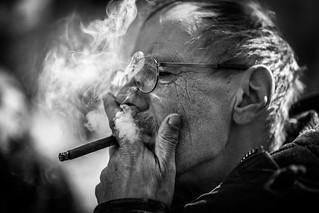 The cigarillo smoker
