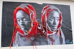 Lily Luciole (Anne-Christelle) Tags: lilyluciole paris montmartre streetart artderue graffitis filrouge red rouge