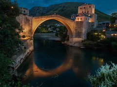 Mostar (Leonardo Đogaš) Tags: water neretva mostar bih hercegovina herzegovina river bridge sky sumrak leonardođogaš oldbridge starimostumostaru