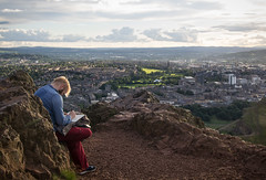 Inspiration over Edinburgh (pepsamu) Tags: landscape arthurs seat arthursseat elasientodearturo el asiento de arturo uk edinburgh holyroodpark scotland escocia edimburgo artis painter draw painting pintor inspiración inspiration canon canonistas 2017 views panorama reinounido wideview peak mountain hill