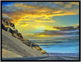 Sprague Washington ~ Interstate 94 ~ Scenic - Sunset