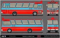 115 036 Jurema - BELA VISTA I LPO-1113 (SUL) (busManíaCo) Tags: busmaníaco desenho caiobelavista drawn blue red vermelho azul
