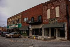 Benton, IL 01 (Christopher Elliot Taylor) Tags: 1052 outdoors shops building architecture strip square bentonillinois southernillinois illinois travel tourism places canont1i affinityphoto sidewalk tonemapping
