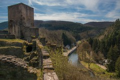 Castle and Ruines (*SanM.*) Tags: castle burg ausblick aussicht landschaft landscapes sauer sauerdall eschsursure eschsauer trees view ruins ruine ardennesluxembourgoises ardennen luxemburg europa europe