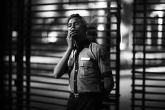 Play Smoking (N A Y E E M) Tags: riyadh youngman securityguard smoke cigarette latenight lastnight light availablelight atmosphere gate hotel radissonblu chittagong bangladesh sooc raw unedited untouched carwindow