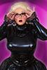 FULLY PVC02 (bigbertha666) Tags: doll mask corset fetish maskedface sissy poser lack plastic pvc rubber fetishfashion glasses cateye