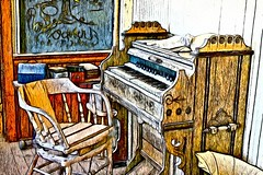Old Piano (John Shedrick) Tags: dynamicautopainter art painting digital paintingfromphoto