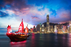 Victoria Harbour Hong Kong night view with junk ship on foreground (Patrick Foto ;)) Tags: architecture asia background beautiful beauty boat building business busy china chinese city cityscape colorful cruise downtown dusk economy famous finance harbor harbour hong hongkong junk kong landmark landscape light metropolis modern night port red scene sea ship sky skyline skyscraper sunset tourism tower traditional travel urban vacation victoria view water kowloon hk