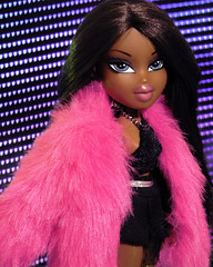 Ur So Hollywood (alexbabs1) Tags: bratz dolls sasha party 2009 loves it glam bunny boo miss passion for fashion honey girls with the mgae mga entertainment doll style pink fur hollywood led lights wall cool colorful fun funky fresh etc hehe sarah palins bangs