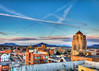 A+ Sunset - Roanoke (Terry Aldhizer) Tags: a sunset roanoke virginia buildings wells fargo hotel catholic church saint andrews sky clouds march terry aldhizer wwwterryaldhizercom