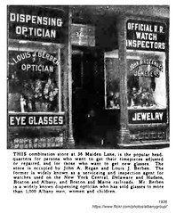 1936 Berben Regan optician jewelers (albany group archive) Tags: albany ny history 1936 berben regan optician jewelers maiden lane 36 1930s old vintage photos picture photo photograph historic historical