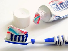 Tooth Brush (Clare-White) Tags: tube brush paste toothpaste white stripe stilllife blue matchpointwinner mpt618 macromademoiselle