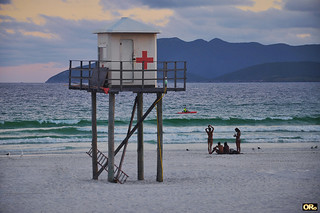 Old lifeguard station