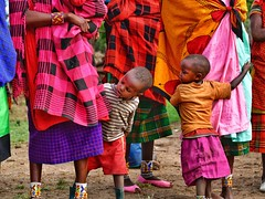 Somewhere IN The Rainbow @ Serengeti (Timothy Hastings) Tags: masai maasai kenya tanzania serengeti africa native people colorful colors beaty herding culture shuka clothe pattern children countryside smiles kindness friendship
