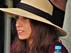 Charity concert (thomasgorman1) Tags: portrait streetportrait audience woman hat face closeup baja canon mx mexico concert event smile sunhat
