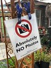 Absolutely No Photos (Mabry Campbell) Tags: sign chappellhillwashington county2018texascountrysideusaiphoneimagephotomabry campbell