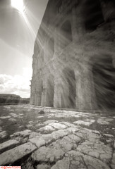 B111-4MarcellusTheatre (DelioTO) Tags: 6x9 antiquities architecture city italy pinhole r09180 rome