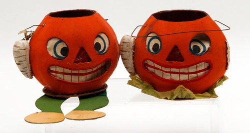 Pair Early Virginia Cardboard Jack-o-Lanterns ($588.00)