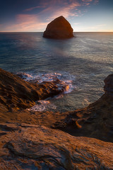The Ocean Beauty - 6573 (J & W Photography) Tags: 2017 autumn capekiwanda fall jwphotography oregon pacificnorthwest coast dusk landscape northwest roaringwaves seastacks sunset tide wave waveaction