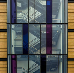'First you zig .... then you zag' (No. 2) (Canadapt) Tags: building architecture stairs stairway facade glass window pattern graphic edinburgh scotland canadapt