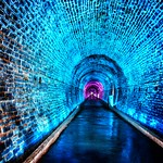 Brockville  Ontario - Canada -  Philips Light Show -  365 days a year - Old Railway Tunnel thumbnail