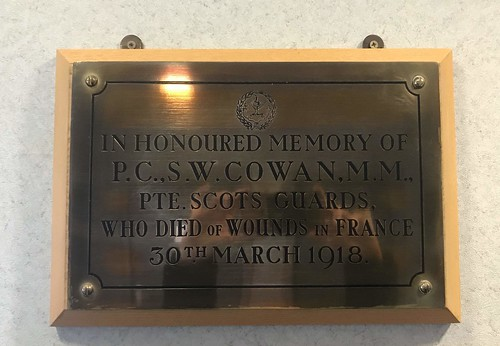 CONSTABLE SINCLAIR W COWAN (CAITHNESS) MEMORIAL PLAQUE
