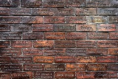 The Wall of Sound ... this wall outside of the cavern club, Liverpool has all the names of the artists that have played there engraved in the wall. (christopher.czlapka) Tags: music brick england liverpool uk cavernclub wall