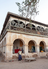 Former ottoman empire house, North-Western province, Berbera, Somaliland (Eric Lafforgue) Tags: adults adultsonly africa africanethnicity ancient arcades architecture balcony barbara buildingexterior buildings colonial day developingcountry eastafrica empire exterior facade history hornofafrica house muslim old ottoman outdoors soma4473 somalia somaliland thepast town tranquility travel traveldestinations turkish twopeople urban vertical womenonly berbera northwesternprovince