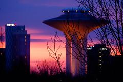 Color Evening (Håkan Dahlström) Tags: 2018 architecture hyllie malmö orange photography sky skåne sunset sweden vattentorn watertower skånelän xt1 f62 130sek xc50230mmf4567ois cropped 801042018185702 väster se