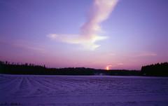 february sky (kimmolandia) Tags: olympus mjuii expired slide film sensia 200 iitti winter february sky sunset