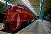 All Aboard (SunnyDazzled) Tags: red locomotive train railroad engine museum pennsylvania strasburg nostalgia rare history resoration prr e7 5901 indoor speed passenger
